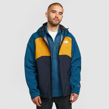 Blue The North Face Men's Stratos Waterproof Jacket