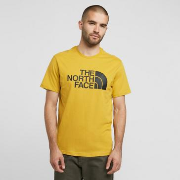 Yellow The North Face Men's Short Sleeve Half Dome T-Shirt