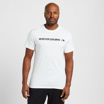 White The North Face Men's Open Gate Short Sleeve T-Shirt