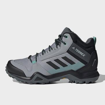 Grey adidas Women's Terrex AX3 Mid GORE-TEX Walking Boots