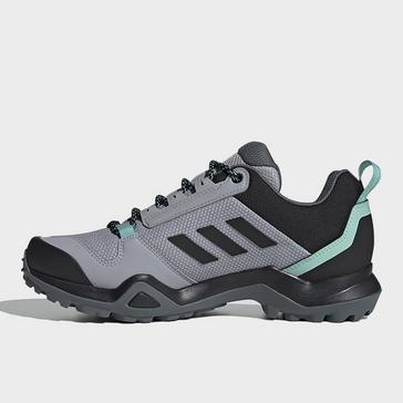 Grey adidas Women's Terrex AX3 Mid GORE-TEX Walking Shoes