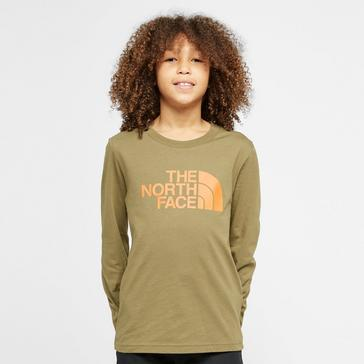 Khaki The North Face Kids' Easy Long Sleeve T-Shirt