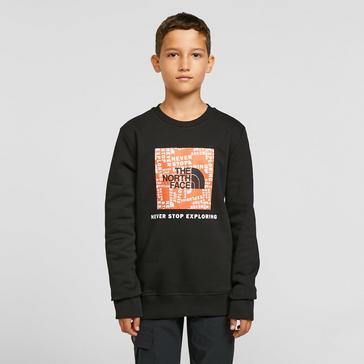 Black The North Face Kids' Box Crew Neck Sweater