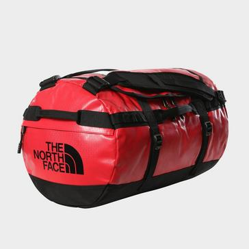 Red The North Face Base Camp Duffel Bag (Small)