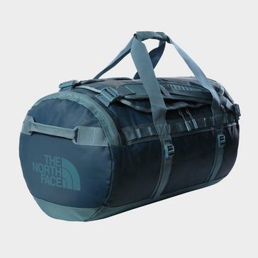 BLUE The North Face Base Camp Duffel Bag (Medium)