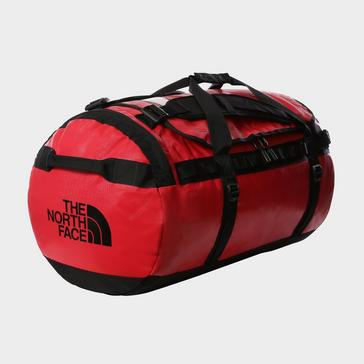 Red The North Face Base Camp Duffel Bag (Large)