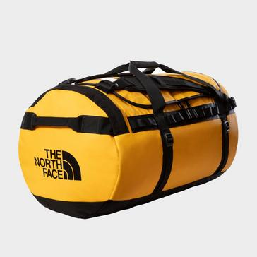 Gold The North Face Base Camp Duffel Bag (Large)