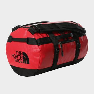 RED The North Face Base Camp Duffel Bag (Extra Small)