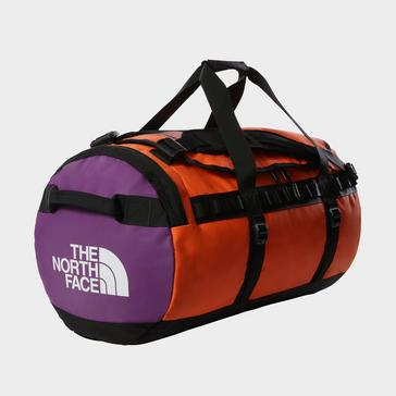 Red The North Face Base Camp Duffel Bag (Medium)