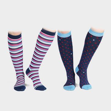 Navy Shires Unisex Bamboo Socks 2 Pack