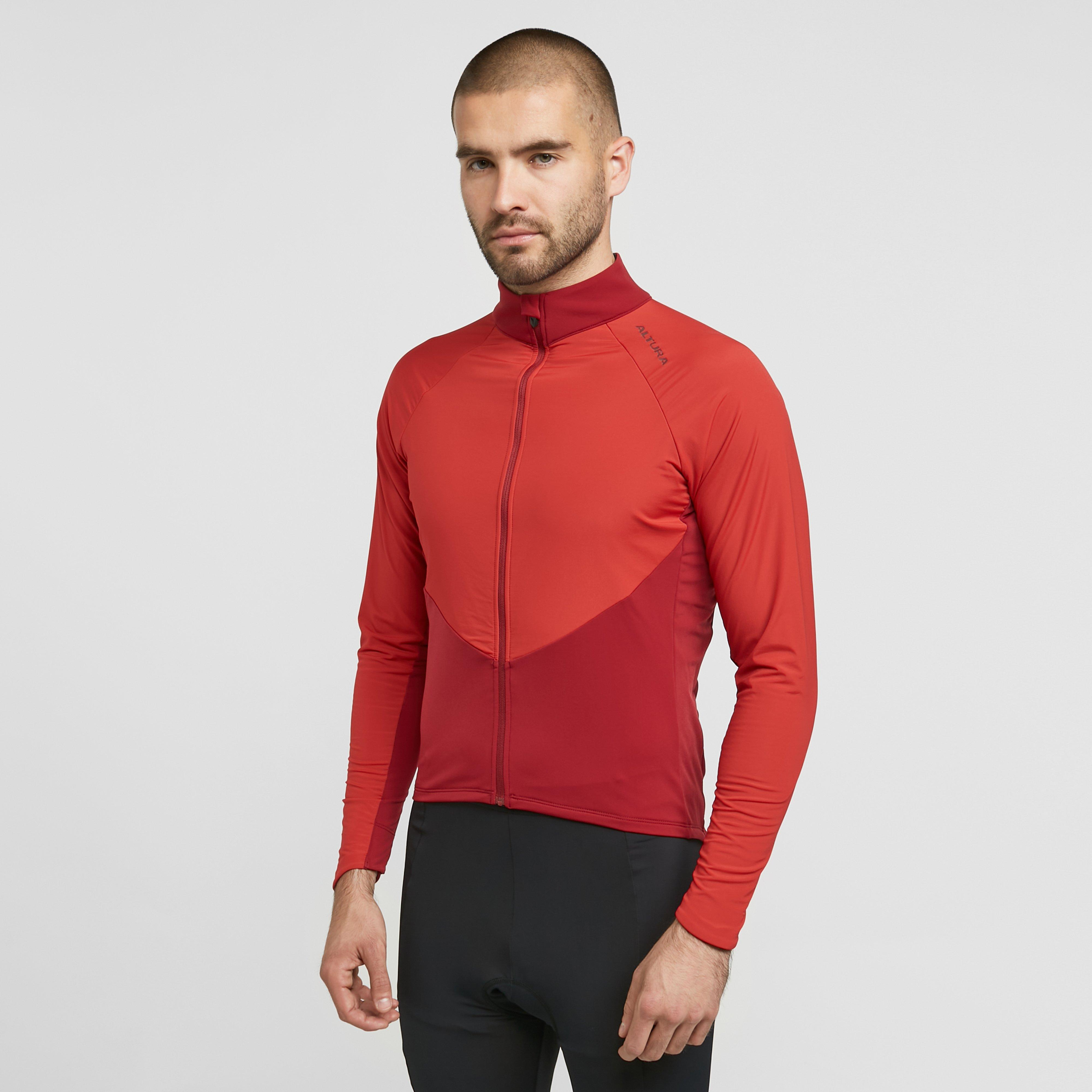 Image of Altura Men's Endurance Long Sleeve Jersey - Red/Rd, Red/RD