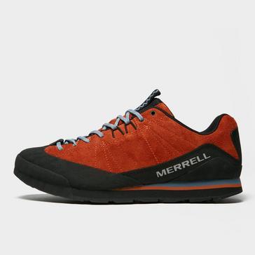 Orange Merrell Men's Catalyst Suede Shoes
