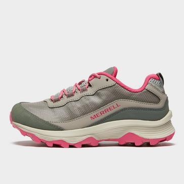 Grey Merrell Kids' Moab Speed Waterproof Shoe