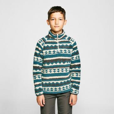 Green Craghoppers Kids' Reagan Half Zip Fleece