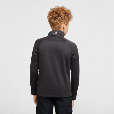 Black Berghaus Kids' Half-Zip Grid Fleece