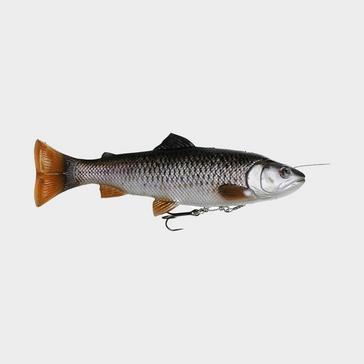 Grey SavageGear 4D Line Thru Pulse Tail Trout 20cm (Chub)
