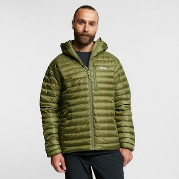 Brown Rab Men's Microlight Alpine ECO Down Jacket