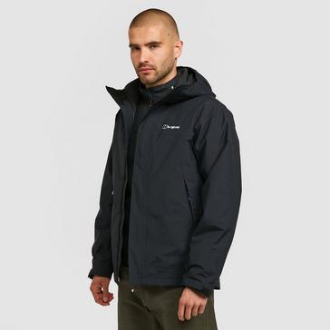 Black Berghaus Men's Stormcloud Prime 3-in-1 Waterproof Jacket
