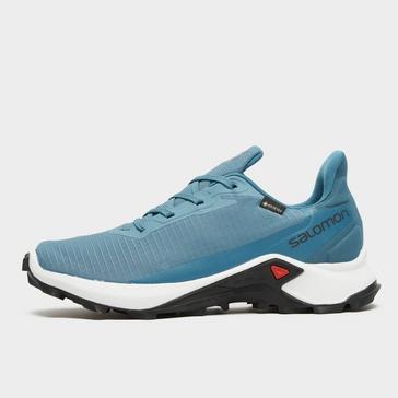 BLUE Salomon Women's Alphacross 3 Gore-Tex Trail Running Shoe