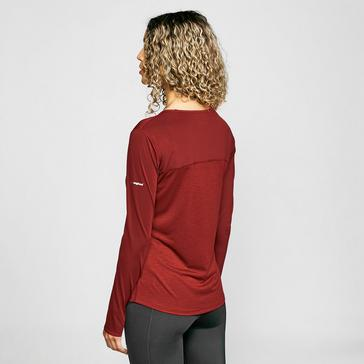 Red Berghaus Women's Voyager Tech Long Sleeve Top