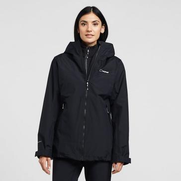 Black Berghaus Women's Stormcloud Prime Waterproof Jacket