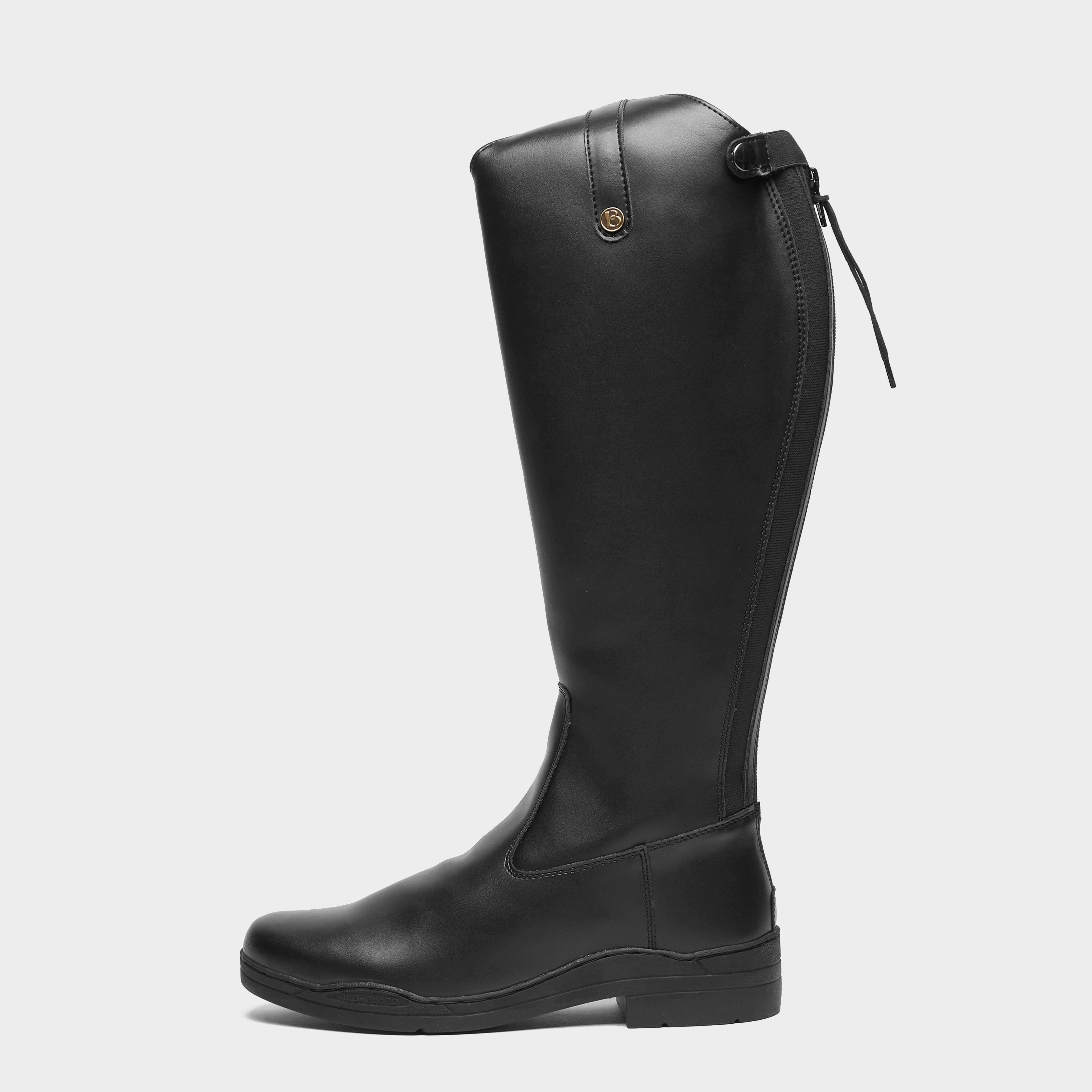 Brogini Women's Moderna Synthetic Dress Riding Boots - Black/Black, Black