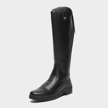 Black BROGINI Women's Moderna Synthetic Dress Riding Boots