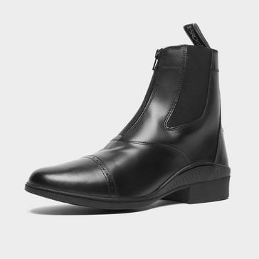 Black BROGINI Men's Tivoli Front Zip Jodhpur Boots