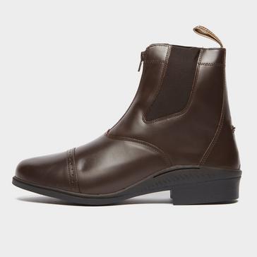 Brown BROGINI Men's Tivoli Front Zip Jodhpur Boots