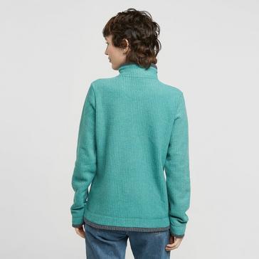Green Weird Fish Women's Lynda Grid Half Zip Grid Fleece