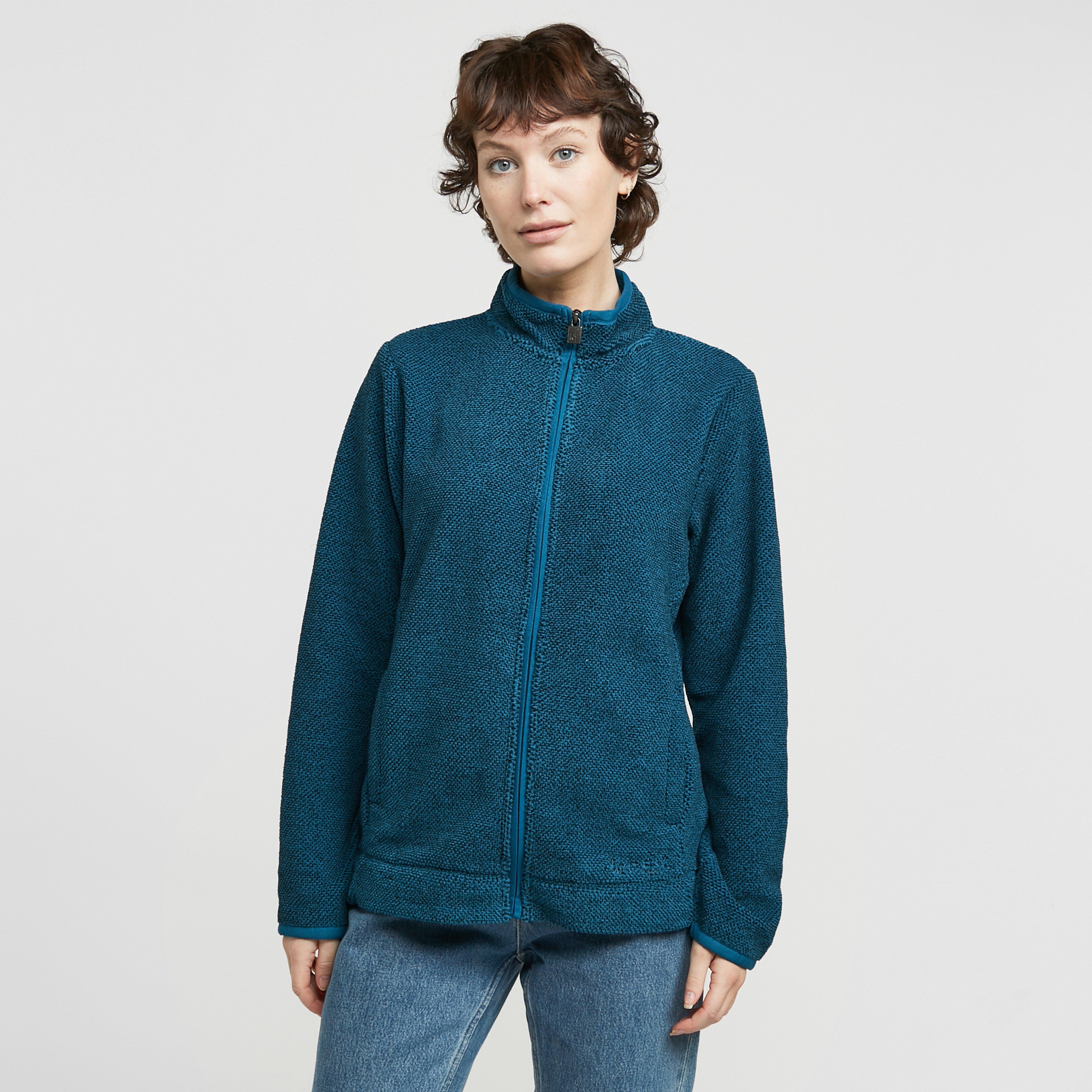 Image of Weird Fish Women's Aggie Full Zip Fleece - Blue/Blue, Blue/Blue