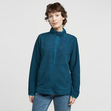 Blue Weird Fish Women's Aggie Full Zip Fleece