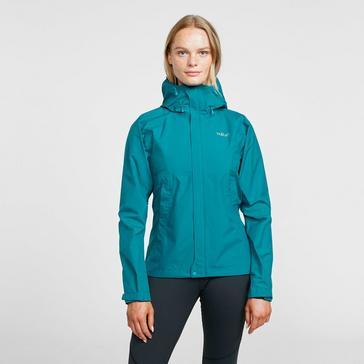 Green Rab Women's Downpour Eco Waterproof Jacket