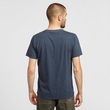 NAVY Weird Fish Men's Woodcut T-shirt