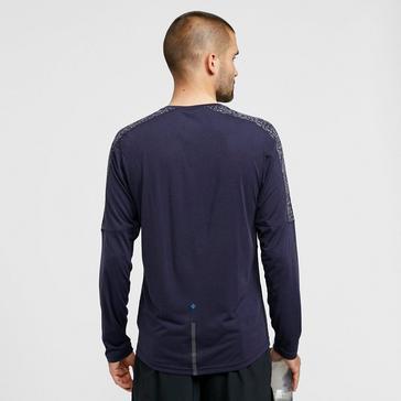 NAVY Ronhill Men's Life Nightrunner T-shirt Long-sleeve Top