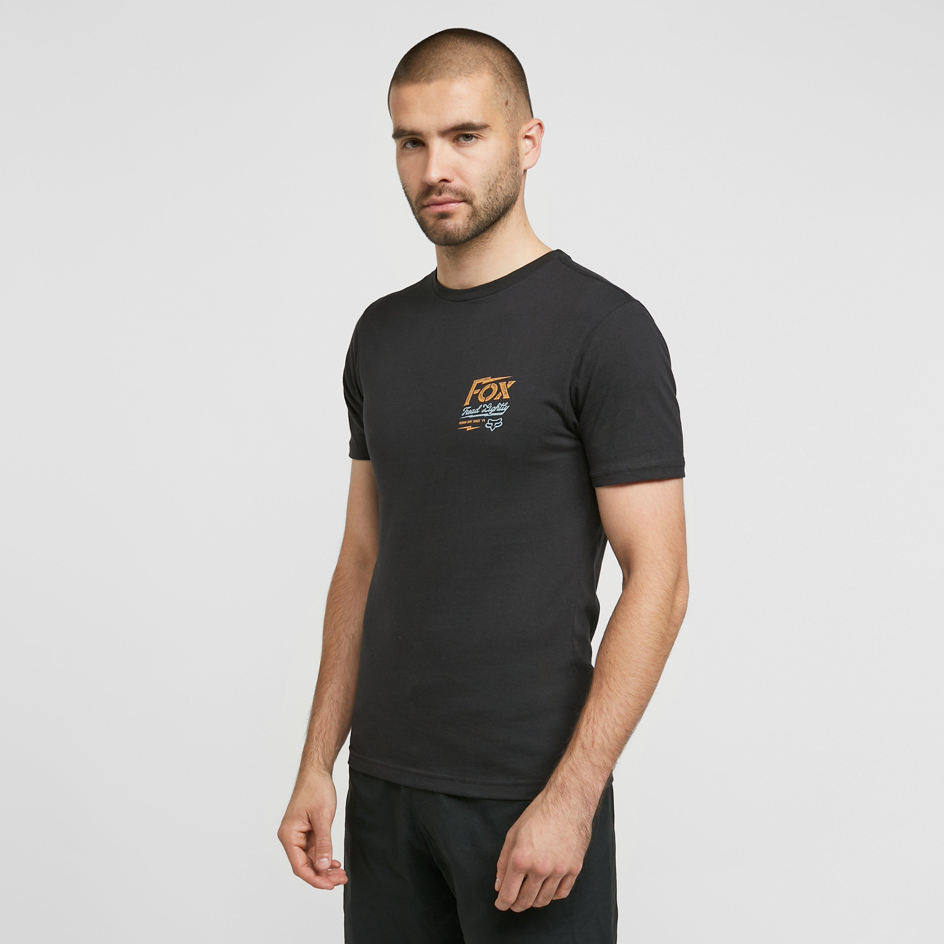 Image of Fox Men's Pushin Dirt T-Shirt - Black/Black, BLACK/BLACK