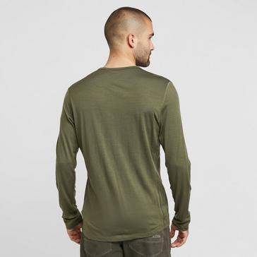 Green Icebreaker Men's Merino 200 Oasis Long Sleeve Thermal Top
