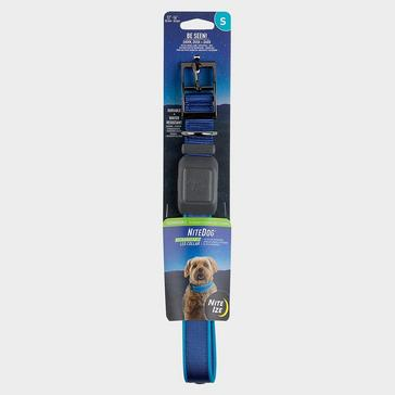 BLUE Niteize Nitedog Rechargeable Collar Small