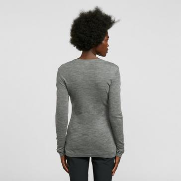 Grey Icebreaker Women's Merino 175 Everyday Long Sleeve Thermal Top