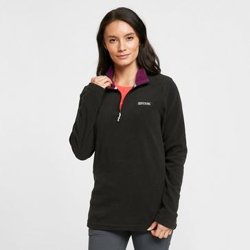 Black Regatta Women's Sweethart Half Zip Fleece