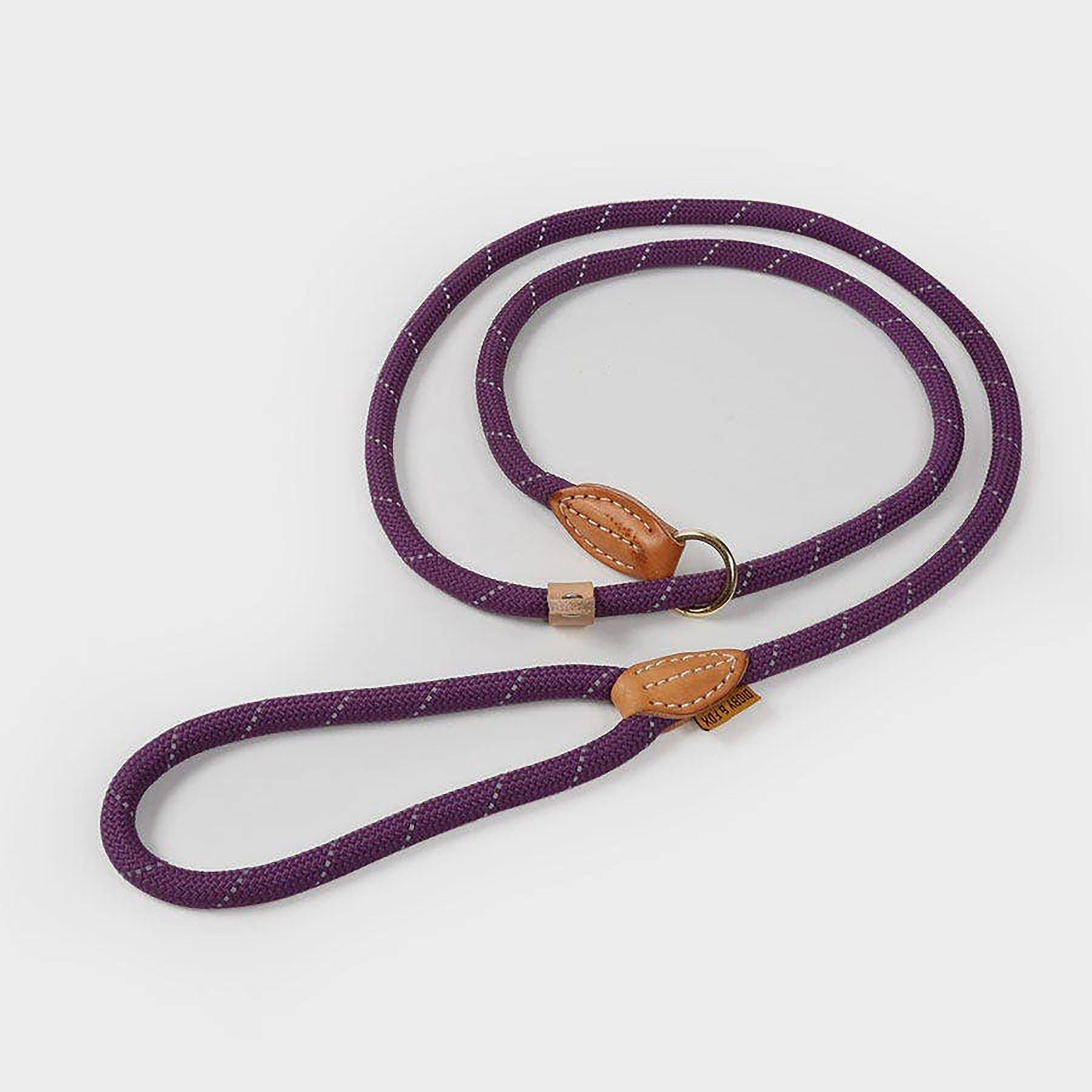Image of Shires Digby & Fox Reflective Slip Dog Lead - Purple/Purple, PURPLE/Purple