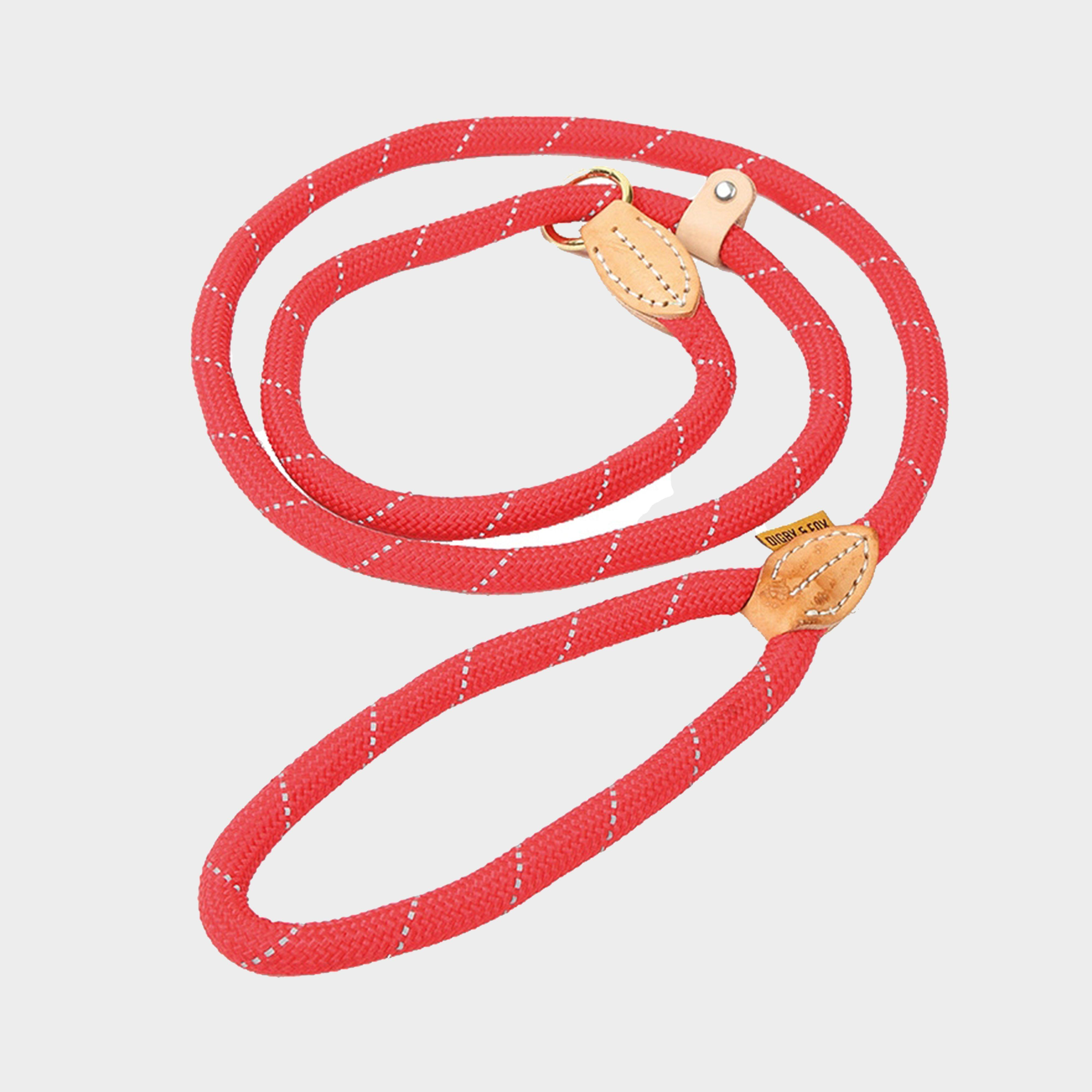 Image of Shires Digby & Fox Reflective Slip Dog Lead - Red/Red, RED/RED