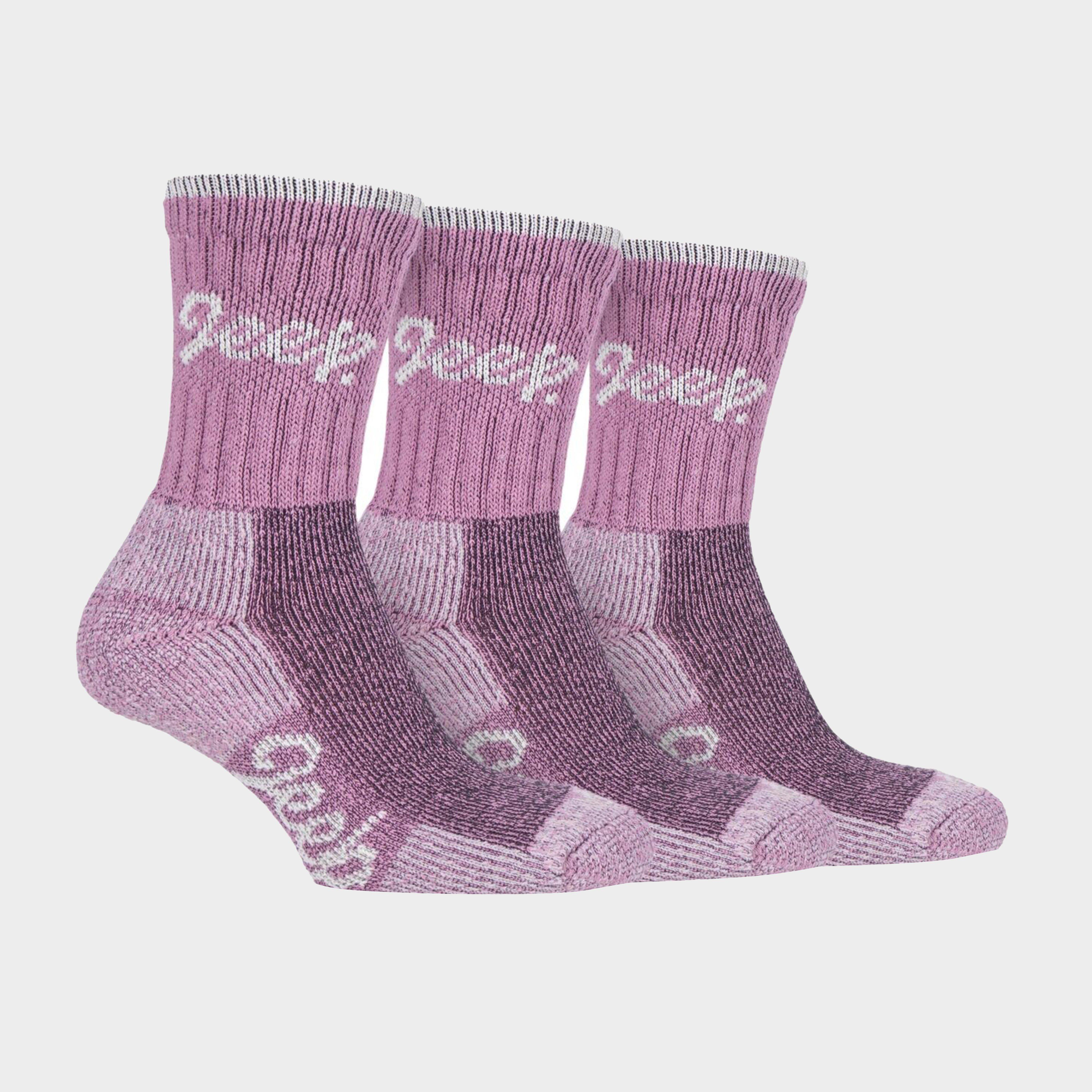 Image of Jeep Women's Luxury Boot Socks - Pink/Pink, PINK/PINK