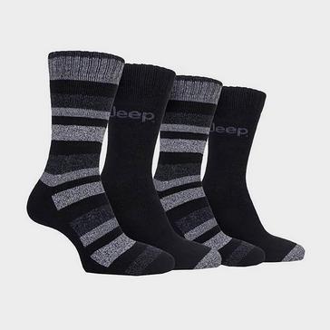 Black Jeep Men's Performance Boot Socks (4 pairs)