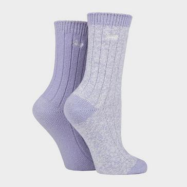 PURPLE Jeep Women's Supersoft Boot Socks