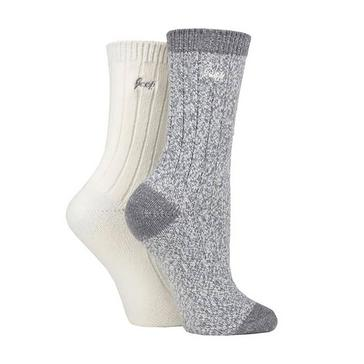 Grey Jeep Women's Supersoft Boot Socks