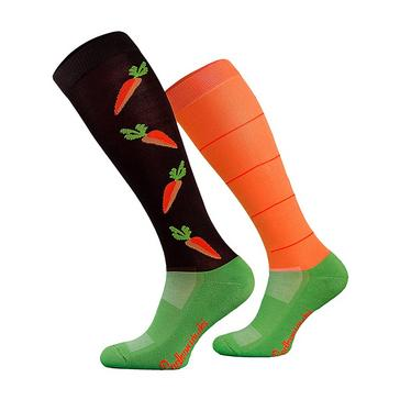 Orange COMODO Adults Novelty Fun Socks Carrots