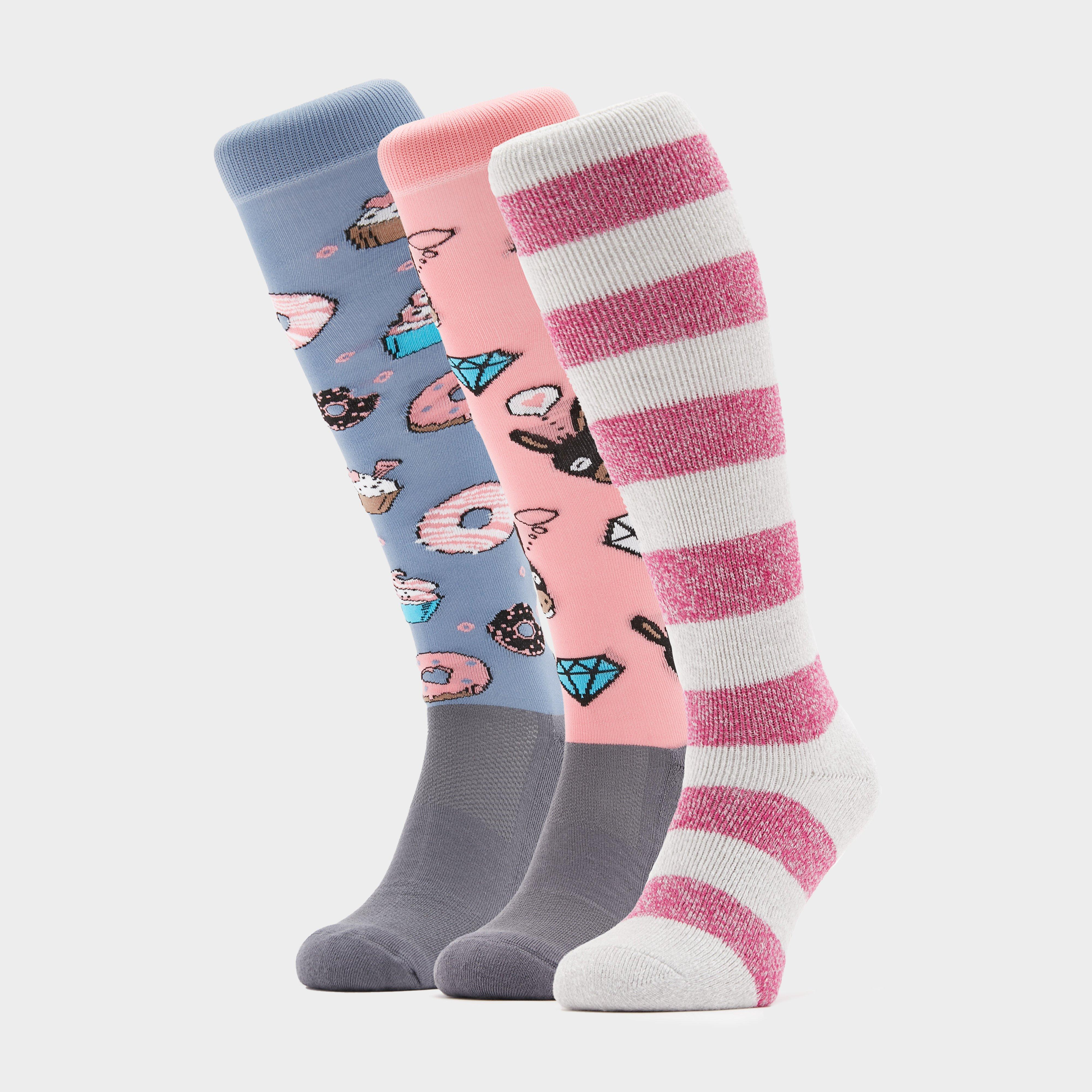 Image of Comodo Adults Novelty Fun Socks Donkey Donut - Pink/Brown, Pink/BROWN
