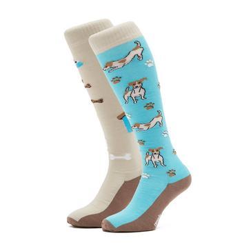 Blue COMODO Adult Novelty Dog Socks