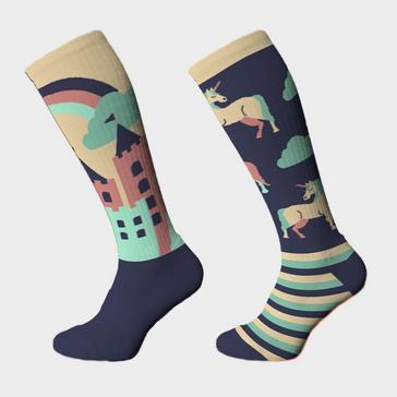 Navy COMODO Adults Novelty Fun Socks Unicorn